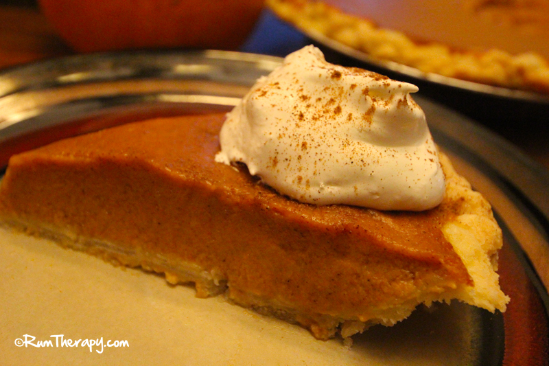 Pumpkin Rum Pie with Rum Flavored Whipped Cream
