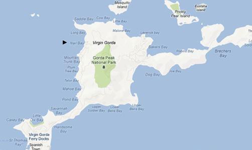 Virgin Gorda Map (500)