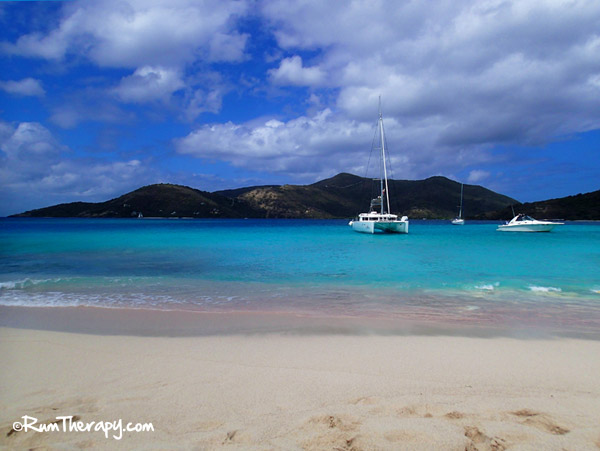 View of Jost Van Dyke from Sandy Spit