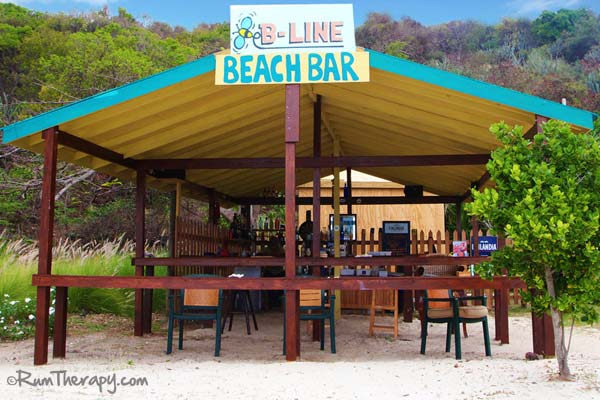 Open bar at B-Line Beach Bar, Little Jost Van Dyke, BVI