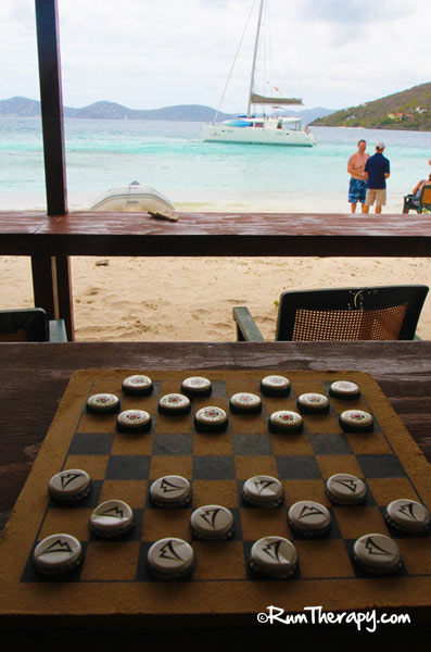 Checkers at B-Line Beach Bar, Little Jost Van Dyke, BVI