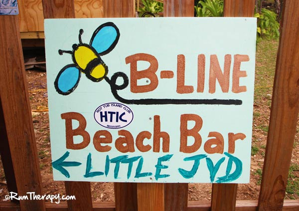B-Line Beach Bar Sign, Little Jost Van Dyke, BVI
