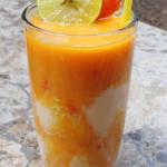 Papaya-Mango Rum Float