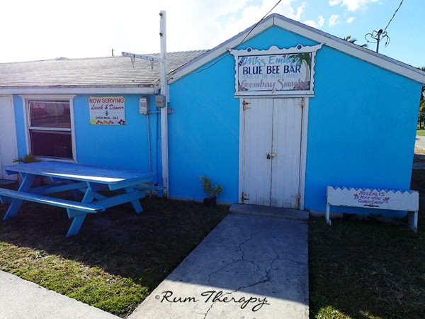 Miss Emily's Blue Bee Bar, Home of the Goombay Smash
