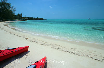 Beach by the Staniel Cay Yacht Club - copyright Rum Therapy