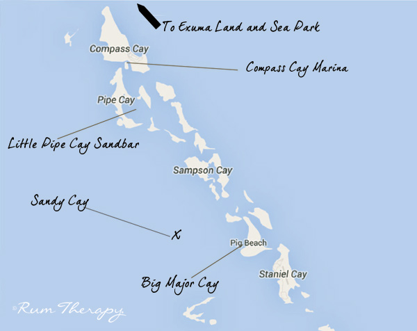 Map of Exuma Cays