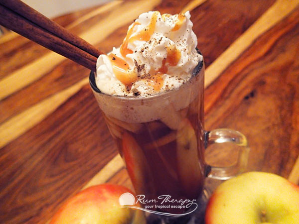 Apple Cider with Spiced Rum - copyright Rum Therapy