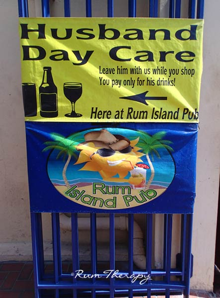 Husband Day Care - copyright Rum Therapy