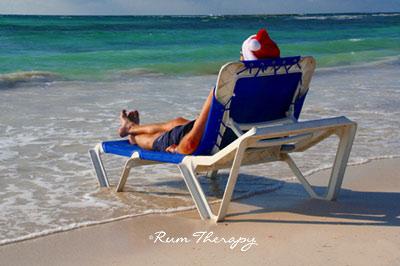 Santa at the Beach - copyright Rum Therapy