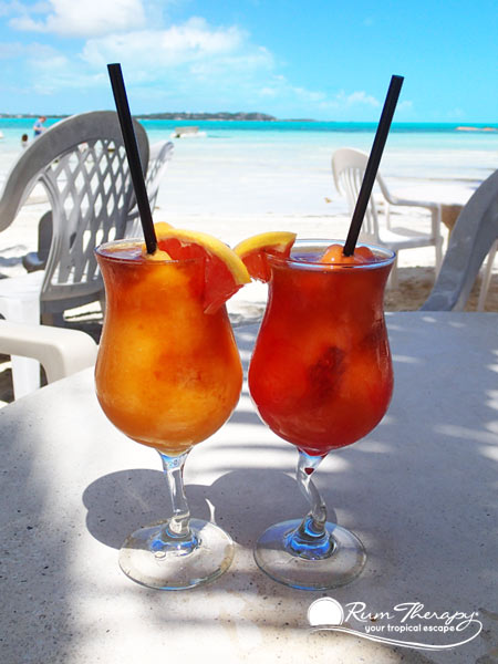 Drinks at Bugaloo's - copyright Rum Therapy