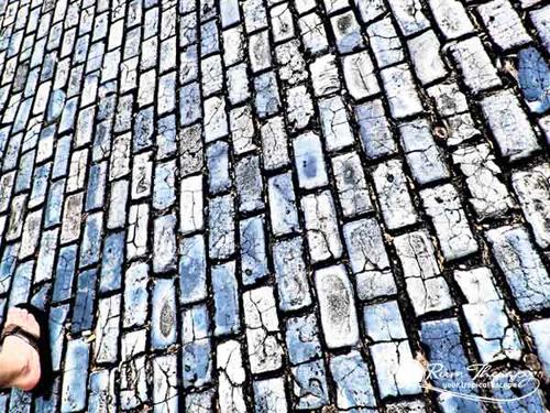 Blue Cobllestones in Old San Jua - copyright Rum Therapy