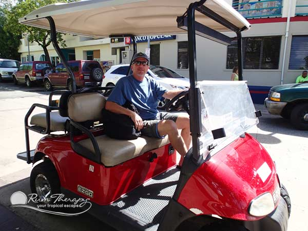 Golf Cart on Culebra - copyright Rum Therapy