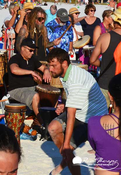 Siesta Key Drum Circle - copyright Rum Therapy