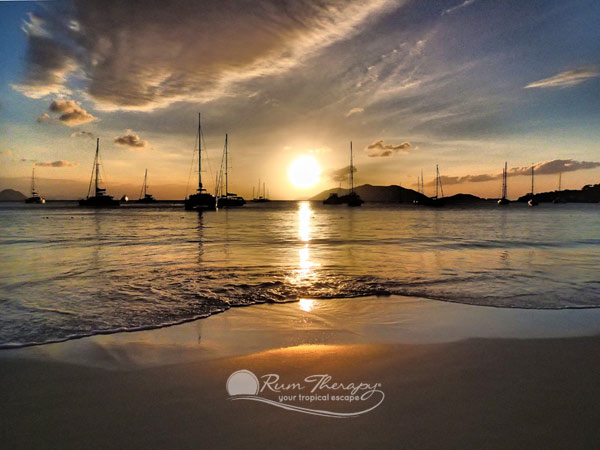 Sunset in Cane Garden Bay, BVI